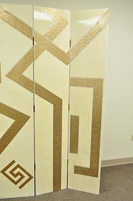 Artmax Decorator Greek Key Hollywood Regency Style 4 Panel Screen Room Divider 6