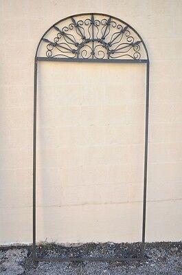 Vintage Ornate Wrought Iron Door Arch Frame Patio Garden Element D 92 x 42 8