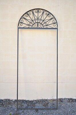 Vintage Ornate Wrought Iron Door Arch Frame Patio Garden Element B 98 x 39 7
