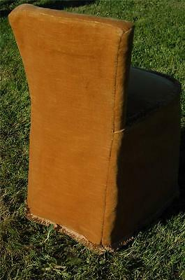 Fab Vintage Retro Bentwood Covered Bedroom Petite Chair Button Backed 6
