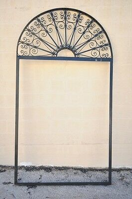 "Vintage Ornate Wrought Iron Door Arch Frame Patio Garden Element 96"" x 52"" 8"