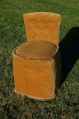 Fab Vintage Retro Bentwood Covered Bedroom Petite Chair Button Backed 2