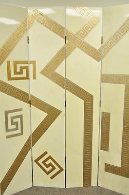 Artmax Decorator Greek Key Hollywood Regency Style 4 Panel Screen Room Divider 5