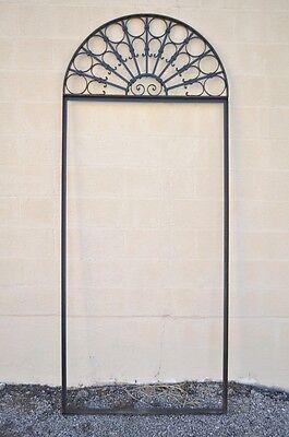 Vintage Ornate Wrought Iron Door Arch Frame Patio Garden Element C 99 x 41 8