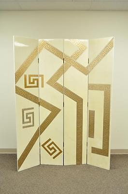 Artmax Decorator Greek Key Hollywood Regency Style 4 Panel Screen Room Divider 12