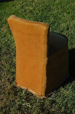 Fab Vintage Retro Bentwood Covered Bedroom Petite Chair Button Backed 5