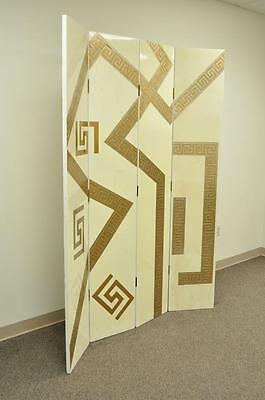 Artmax Decorator Greek Key Hollywood Regency Style 4 Panel Screen Room Divider 3