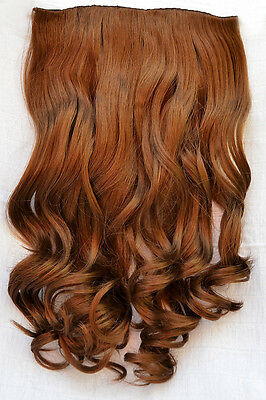 """19"""" Curly Long Clip-In Half Extension Piece *2-3 Tone* ~Feels like Human Hair~ 2"""