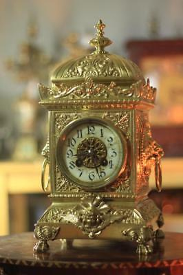 S.marti Antique French 8 Day 2 Train Rococo Mantle Clock Set With Candleabras 2