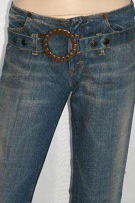 """""""Fornarina""""Damen Baumwolle Schlag Jeans Vintage Schlagjeans Hose blau W27 neu"""