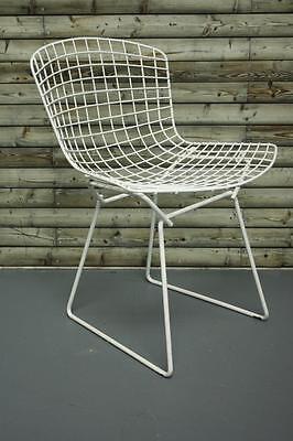 Vintage White Powder Coated Harry Bertoia Side Chair Midcentury #1720 2