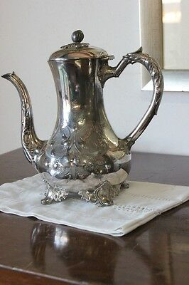 ANTIQUE COFFEE MAKER IN SHEFFIELD h 26 TEAPOT ENGLISH PERIOD '800 SILVER PLATED 9
