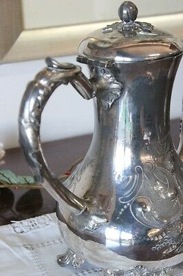 ANTIQUE COFFEE MAKER IN SHEFFIELD h 26 TEAPOT ENGLISH PERIOD '800 SILVER PLATED 4