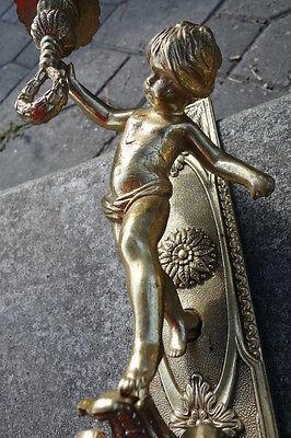 Vintage Brass Cherub Door Hardware Elements 6