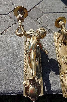 Vintage Brass Cherub Door Hardware Elements 3