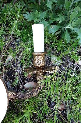 Vintage Pair Brass Sconces 11
