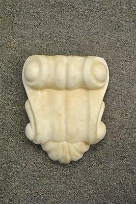 Antique Cream Carved Marble Architectual Pediment 2