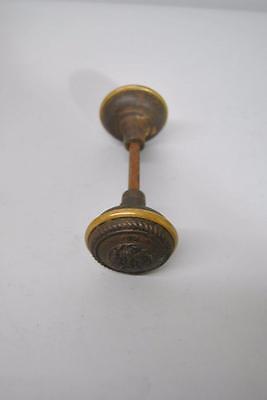 Antique Set Of Brass Victorian Knobs Handle Hardware 5