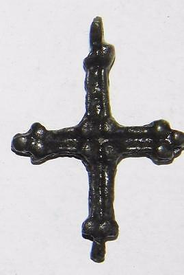 Medieval Norman Period Bronze Cross Crucifix Pendant c.1000 Norse Amulet Viking 5
