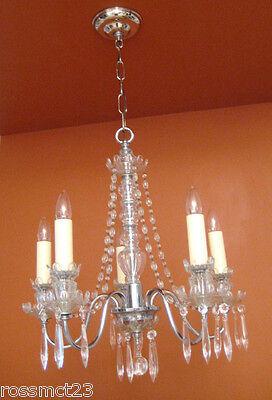 Vintage Lighting antique 1930s crystal chandelier   Rare Stunning 5