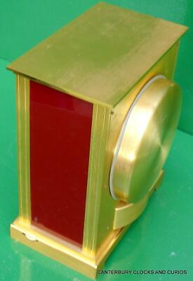 Jaeger Lecoultre Vintage Burgandy Embassy Atmos Clock Original Box Serviced 8