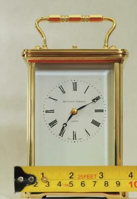 Swiss Matthew Norman 1751A Striking Repeater Grande Corniche Carriage Clock 4