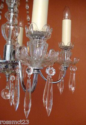 Vintage Lighting antique 1930s crystal chandelier   Rare Stunning 8