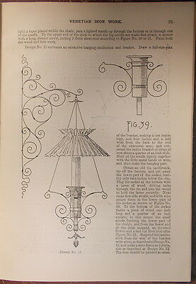 1895 ITALIAN VENETIAN IRON WORK Illustrated  METROPOLITAN HANDY SERIES 2