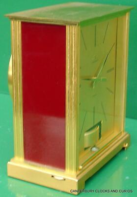 Jaeger Lecoultre Vintage Burgandy Embassy Atmos Clock Original Box Serviced 12