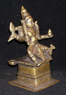 Antique Traditional Indian Ritual Bronze Statue Goddess Parvati Rare #1 2
