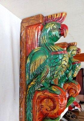 Hand carved Eagle Wooden Wall Corbel Bracket Pair Bird Sculpture Art Decor Rare 4