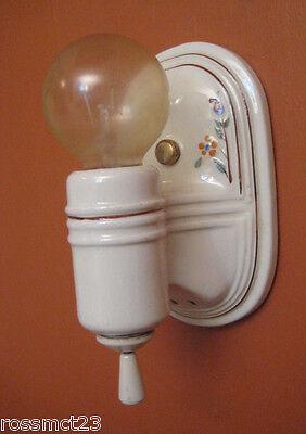 Vintage Lighting four 1930s Porcelier lights incl. pair sconces   Kitchen Bath 6