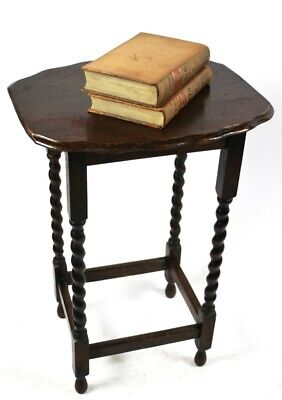 Antique English Mahogany Barley Twist Occasional Table - FREE Shipping [P5047] 5