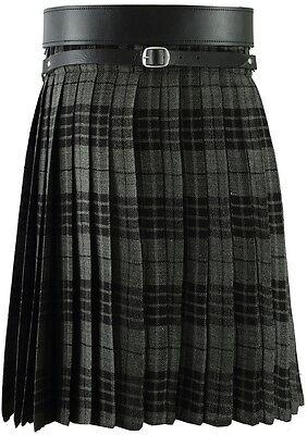 Grigio Scozzese Uomo Kilt Tartan Kilt Tradizionale Vestito Highland