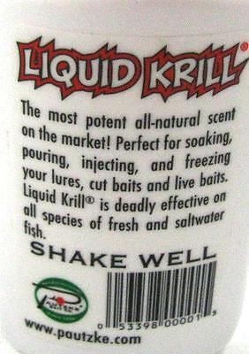 Pautzke Bait Liquid Krill Shrimp Scent All Natural Attractant Cure 2 oz Bottle 2