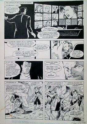 Mister Miracle 15 ORIGINAL ART PAGE 21 Joe Phillips 1990 DC Comics Pencil & Ink 3