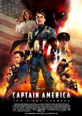 Captain America The First Avenger 2011 Movie Poster A5 A4 A3 A2 A1 2