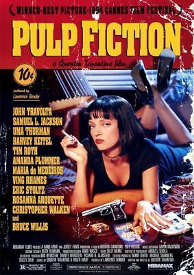 Pulp Fiction Classic Movie Poster A5 A4 A3 A2 A1 2