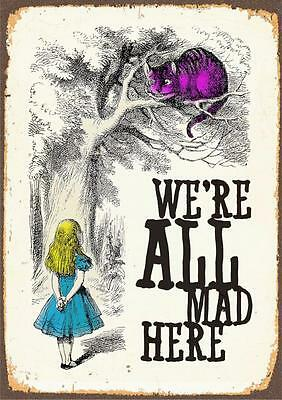 Alice In Wonderland we're all mad here - Vintage Classic Poster Print 2