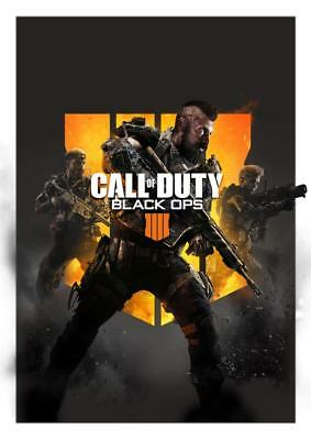 Call Of Duty Black Ops 4 Game Poster A5 A4 A3 A2 A1