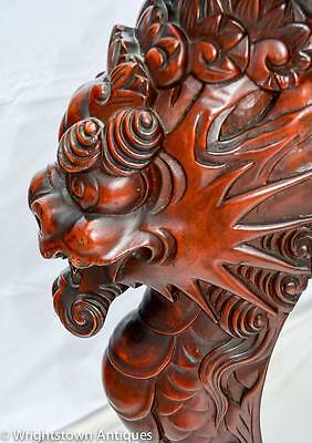 RARE Chinese 19C CARVED DRAGON Rosewood Library/Foyer TABLE Exlnt!! 3