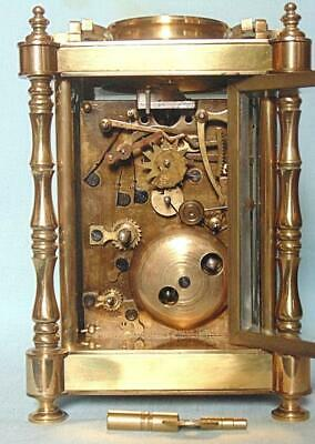 Antique Style French Carriage Clock Repeater Alarm With Erotic Decoration 6