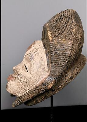 Old Tribal Large  Tribal Punu Maiden Spirit   Mask    --   Gabon BN 42 4