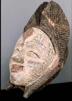 Old Tribal Large  Tribal Punu Maiden Spirit   Mask    --   Gabon BN 42 3