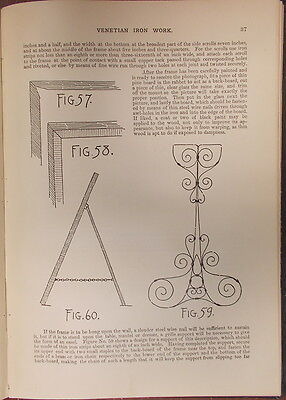 1895 ITALIAN VENETIAN IRON WORK Illustrated  METROPOLITAN HANDY SERIES 3