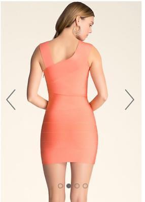 Bebe Coral Asymmetrical Straps Bandage Dress New Nwt $129 Large L 5