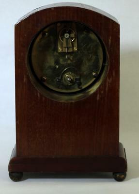 Antique French 8 Day Mahogany And Boxwood Stringing Mantle Clock 6