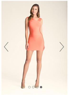 Bebe Coral Asymmetrical Straps Bandage Dress New Nwt $129 Large L 3