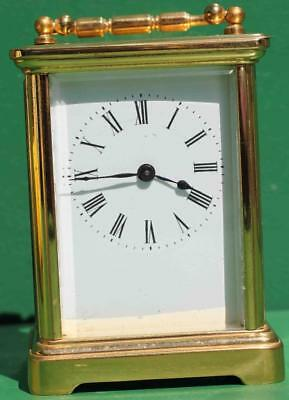 Antique French Couaillet Freres 8 Day Time Piece Corniche Carriage Clock 2