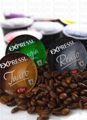 4 BOX (64) You Choose Expressi Kfee Automatic Coffee Machine Capsules Pods ALDI 3